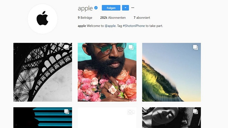 Apple, Instagram, Instagram-Account