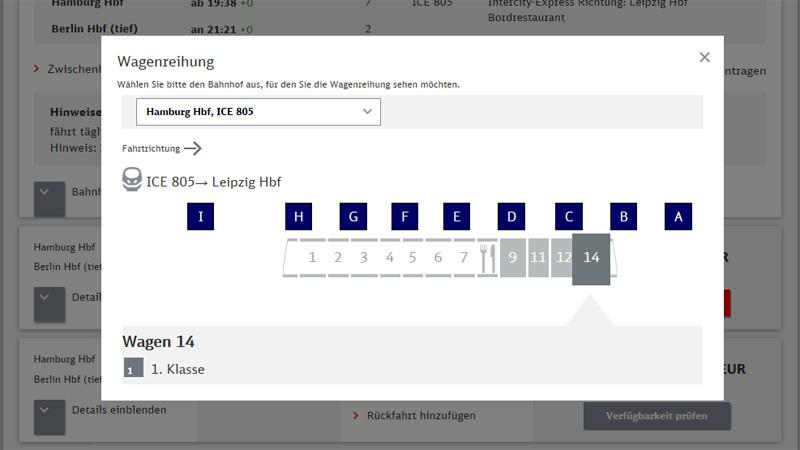 Wagenreihung (Bild: Deutsche Bahn AG)