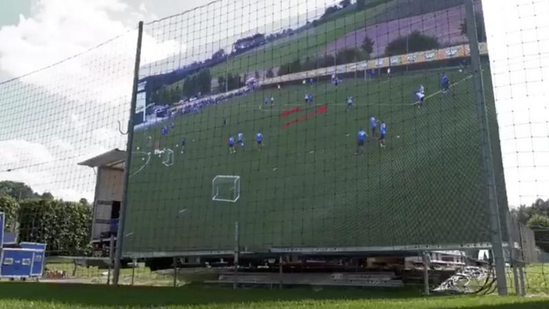 TSG Hoffenheim testet Videowall im Training