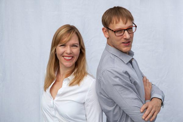 Nadin-Shirin Zimmermann und Marcel Lambert, die Gründer von WEsualize