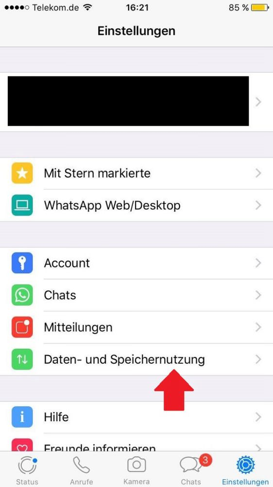 WhatsApp, WhatsApp-Speicherplatz