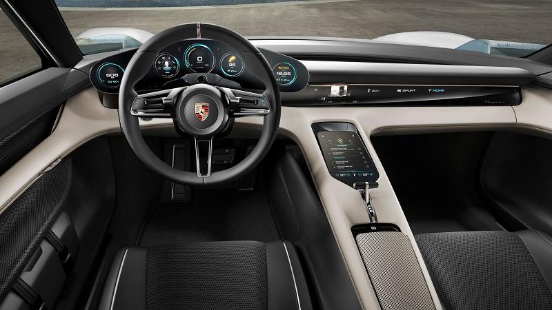 Porsche Mission E Innenansicht