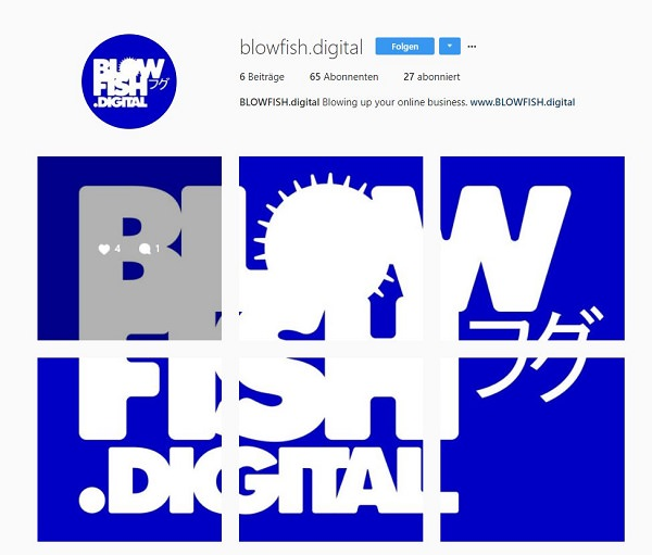 Instagram, Blowfish Digital