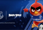 Angry Birds auf dem Trikotärmel des FC Everton