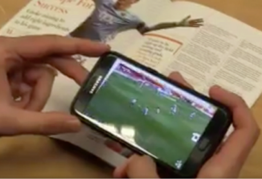 Augmented Reality im Stadionmagazin des Blackpool FC