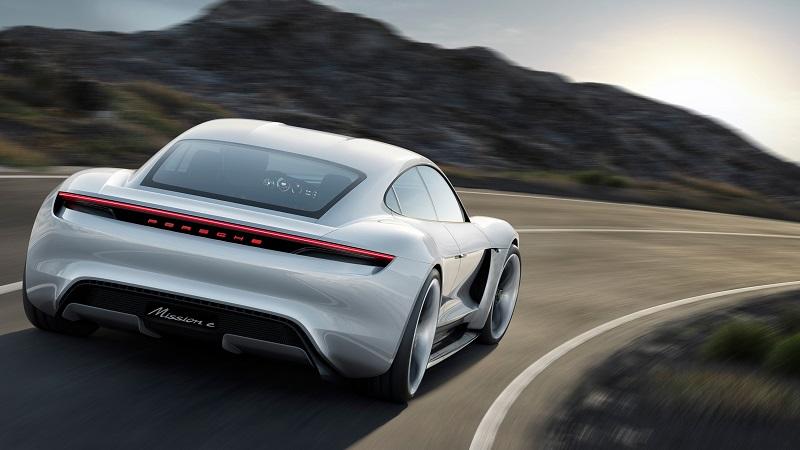 Porsche Mission E Geschwindigkeit