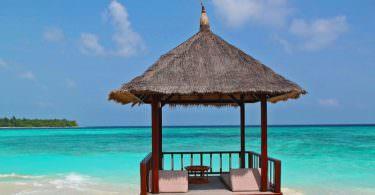 Malediven, Strand, Bungalow, Meer, Butler