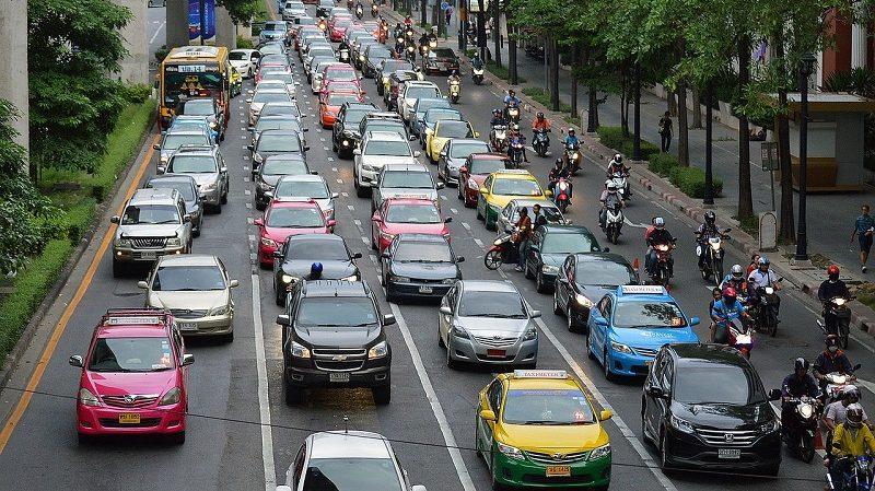 Stau Stadt Autos