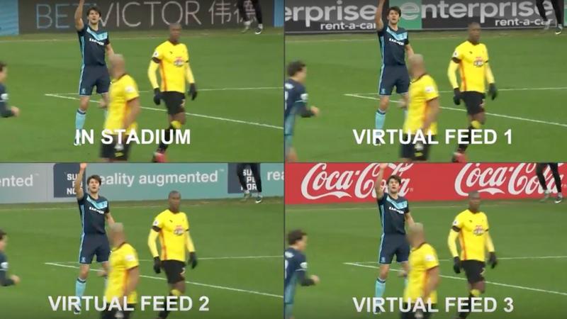 Virtuelle Werbung im Fußballstadion