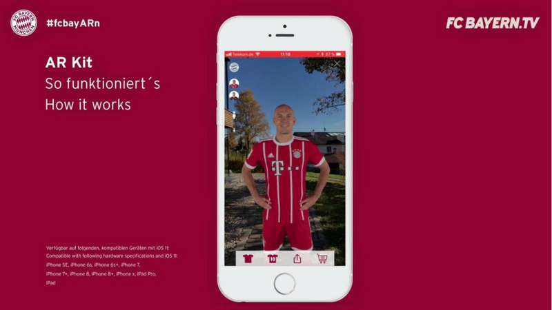 Augmented Reality: FC Bayern launcht eigene Lösung