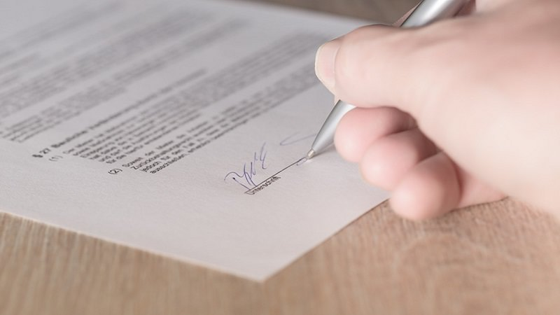 Vertrag, Unterschrift, Gesellschaftsvertrag