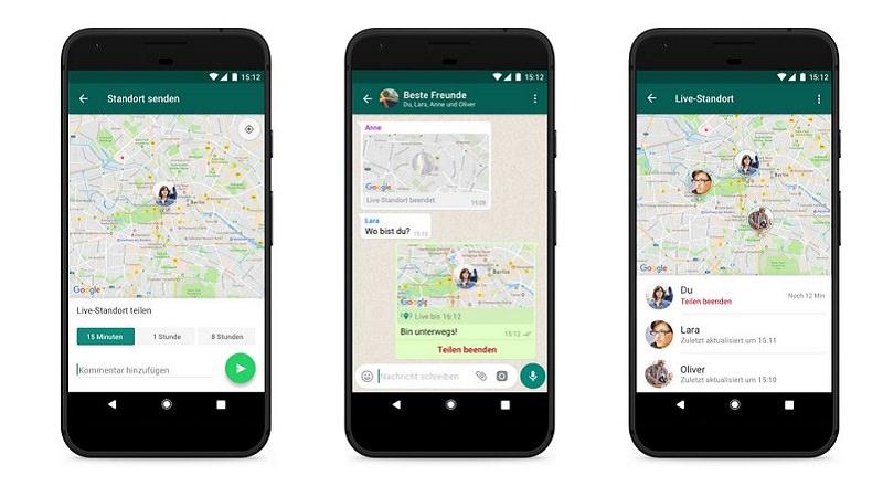 WhatsApp, Geotracking, Standort, Live-Standort, WhatsApp Live Standort