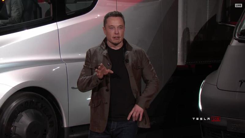 Elon Musk Tesla Semi Truck