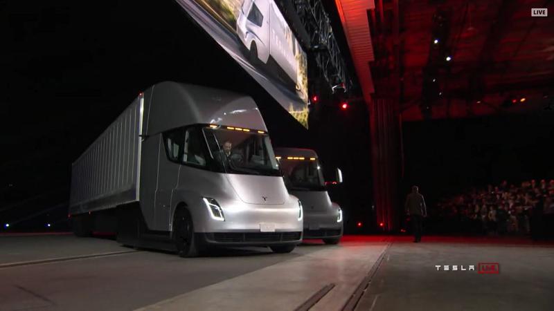 Tesla Semi Truck Vorstellung Bühne