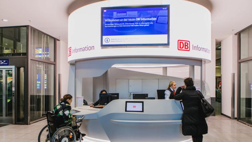 Die neue DB-Information soll es allen recht machen. (Foto: Deutsche Bahn)