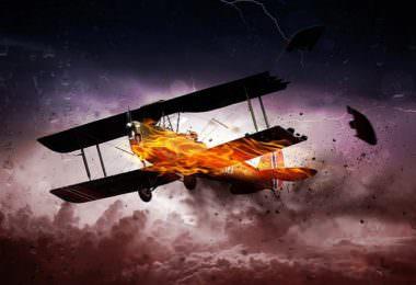 Flugzeug, Gewitter, Absturz, Blitz, Kommunikation
