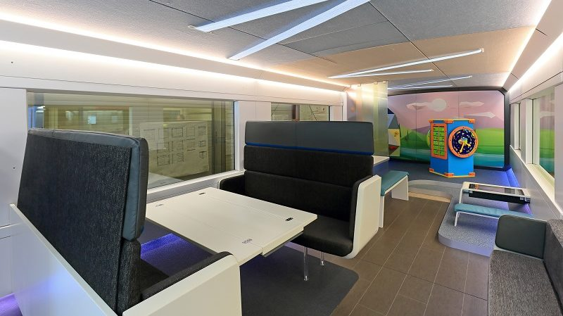 "Familienbereich Stonner IP GmbH, Augsburg, Mockup ""Ideenzug"" DB AG"