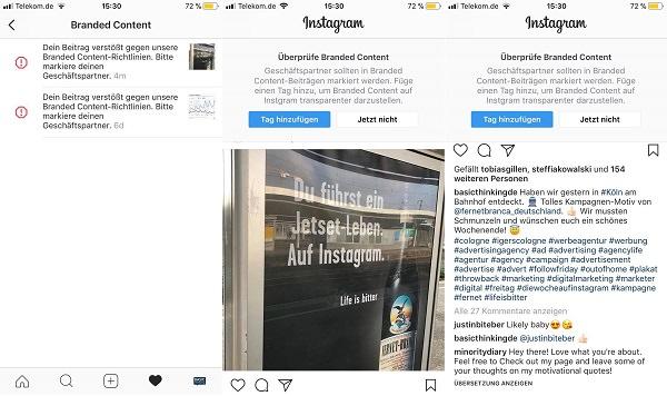 Instagram, Branded Content