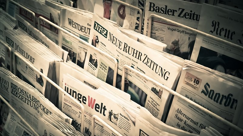 Zeitungen, Kiosk, Zeitschrift, Presse, Pressemitteilung