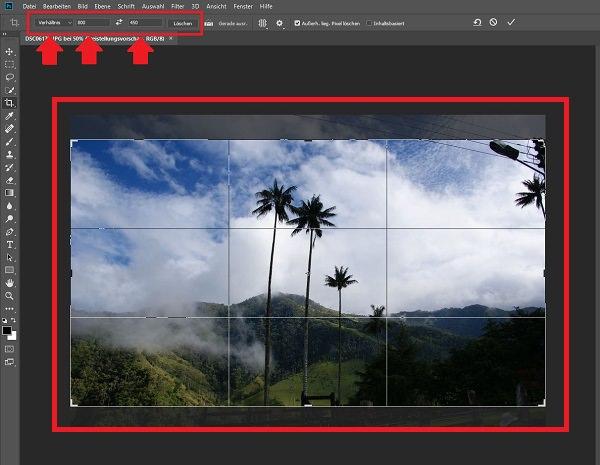 Photoshop, Photoshop Bilder zuschneiden