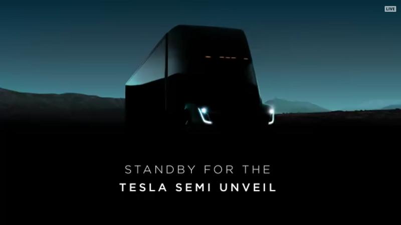 Tesla Semi Truck Livestream