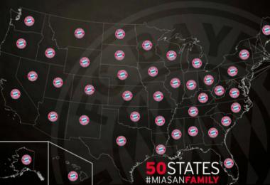 Fan-Umfrage: Bayern München hat Fans in 50 US-Bundesstaaten