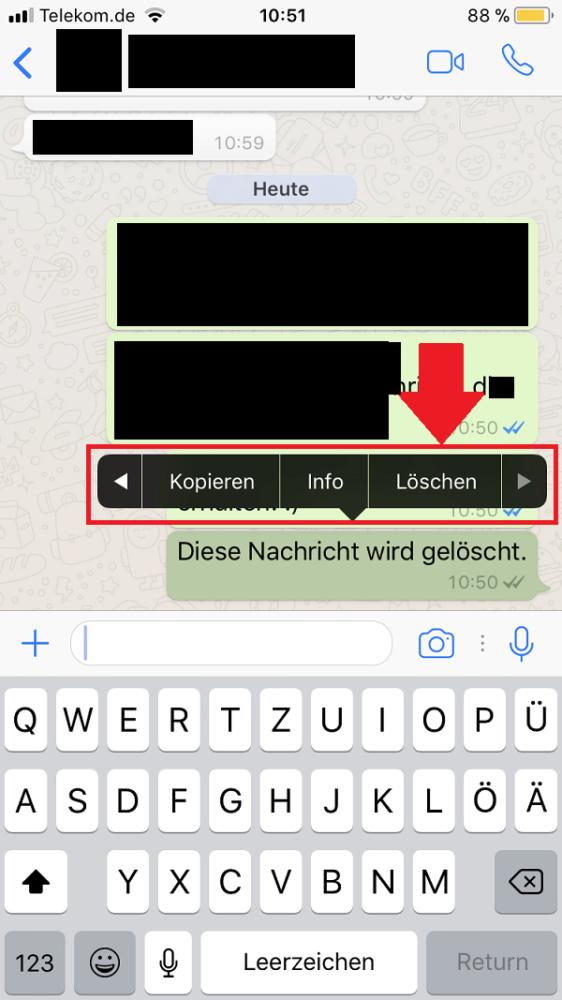 WhatsApp, WhatsApp Nachrichten löschen, WhatsApp-Nachrichten löschen