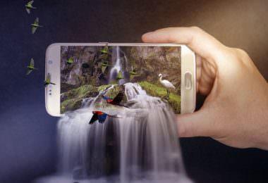 Smartphone, Wasserfall, Mobile, Mobile Marketing