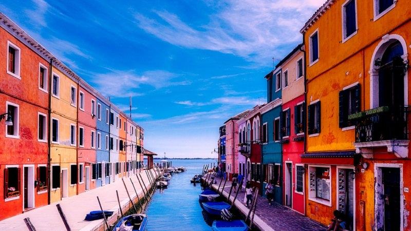 Burano, Venedig, Italien, Farben, Meer, iPhone
