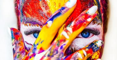 Farbe, Farben, Gesicht, visuelle Kommunikation