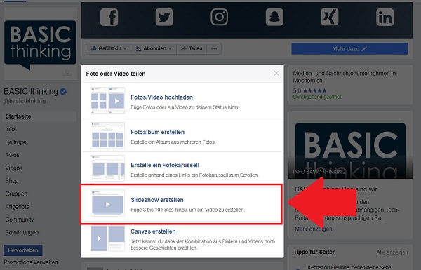 Facebook, Slideshow, Video-Slideshow, Facebook Slideshow