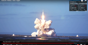 Falcon Heavy fliegt SpaceX