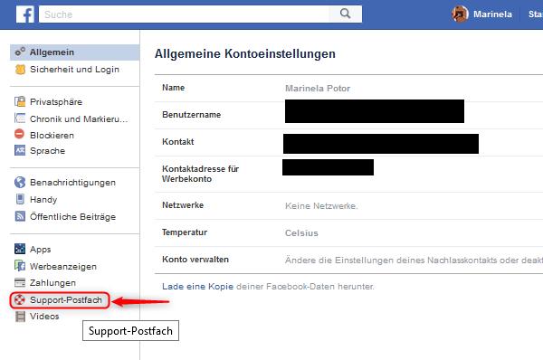Facebook Gedenkzustand Einstellungen