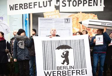 Berlin Werbefrei Demonstration