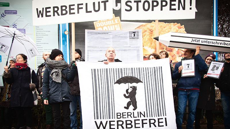 Berlin Werbefrei Demonstration