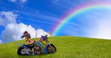 Motorrad Harley Davidson Regenbogen