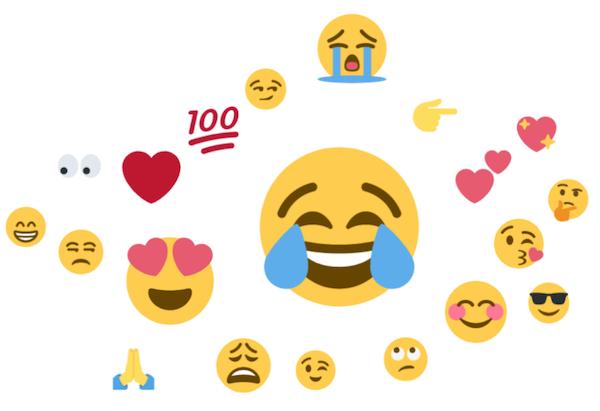 Die 20 beliebtesten Emojis (Quelle: Brandwatch Emoji Report)