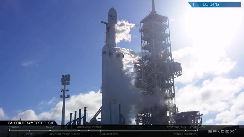 Falcon Heavy Space X vor dem Start