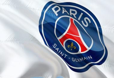 Paris, Paris Saint-Germain, Fahne, Logo, Social-Media-Post