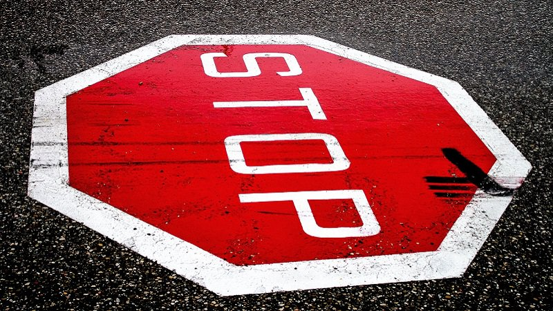 Stop, Stop-Schild, Verbot, Werbeverbote