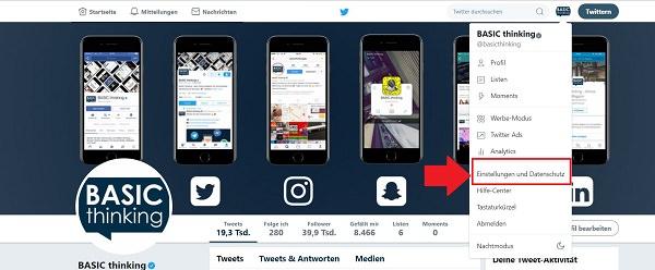 Twitter, Einstellungen, Apps, Zugriff, Daten, Twitter-Daten