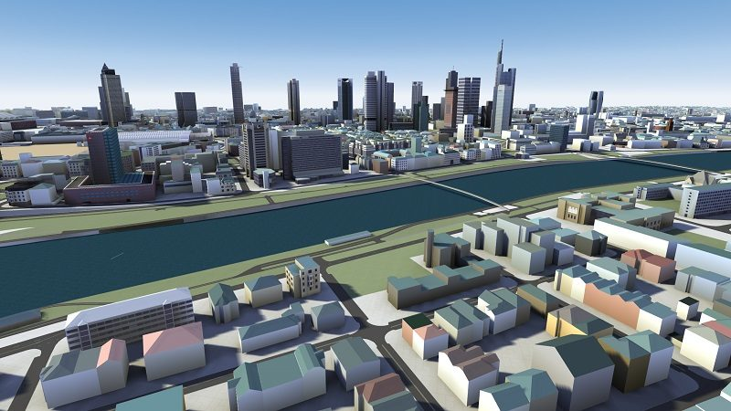 3D-Karte Frankfurt HERE