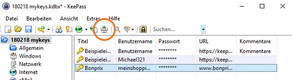 KeePass, KeePass einrichten, Passwort-Safe
