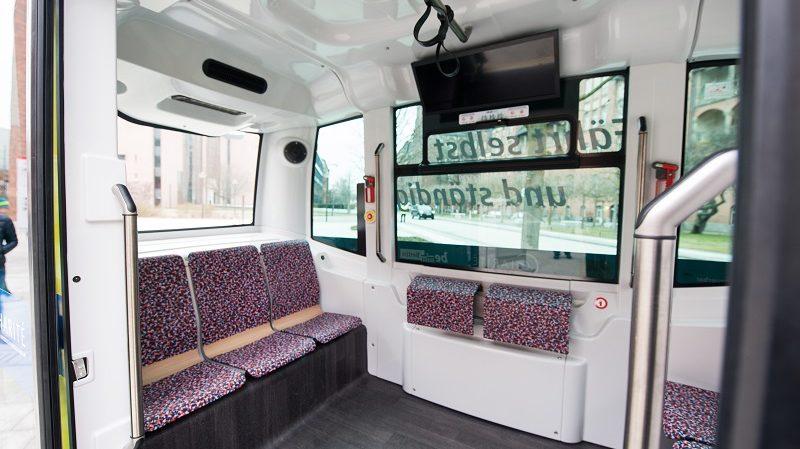BVG autonome Minibusse Innenraum