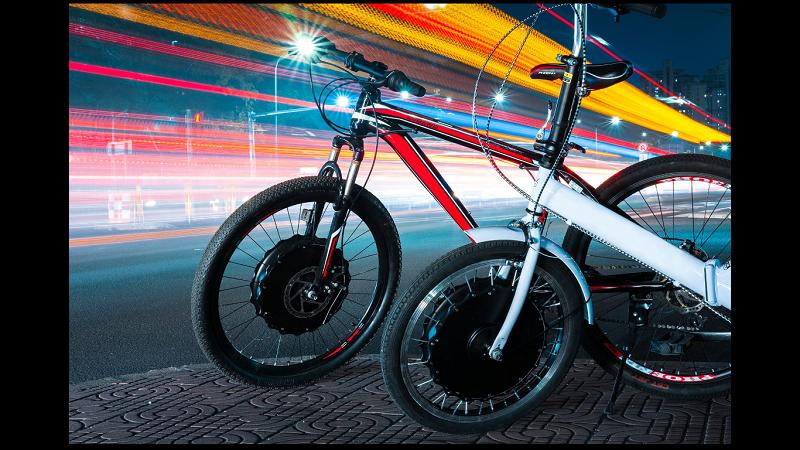 EvoWheel E-Bike Rad wechseln