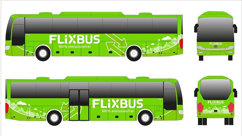 Flixbus E-Bus Modell