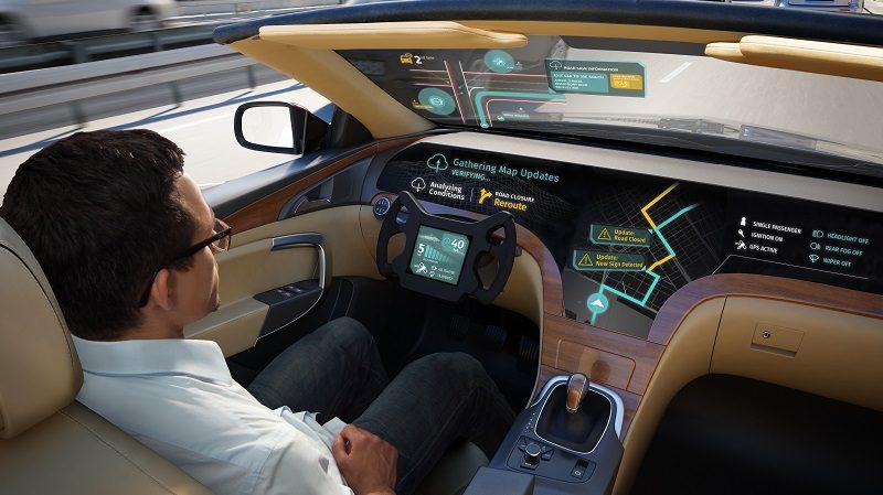 Autonomes Auto mit Kartensystem von HERE