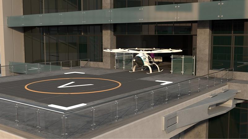 Volo-Port Volokopter Infrastruktur Konzept