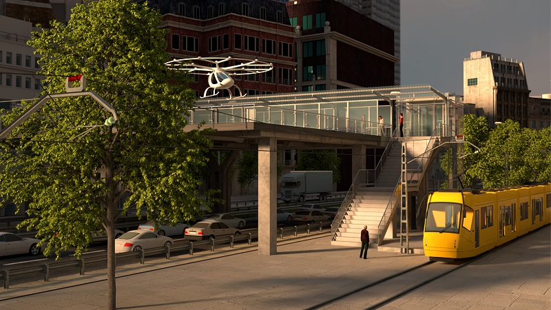 Volocopter Infrastruktur Konzept