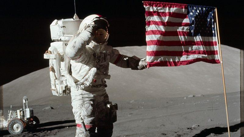 Astronaut Neil Armstrong Mondlandung
